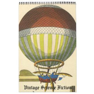 Vintage Illustration Science Fiction Futuristic Wall Calendar