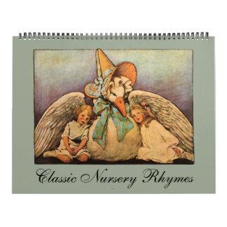 Vintage Illustrations Mother Goose Nursery Rhymes Calendar