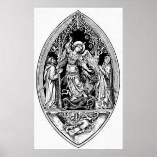 Vintage Image - Archangel Michael Poster