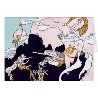Vintage Image - Mermaids at Play Card