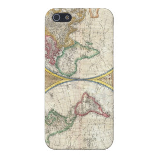 Vintage image of a world map iPhone 5/5S case