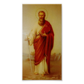 Vintage Image of the Apostle Saint Paul Poster