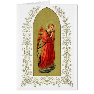 Vintage Image - Praying Christmas Angel Card