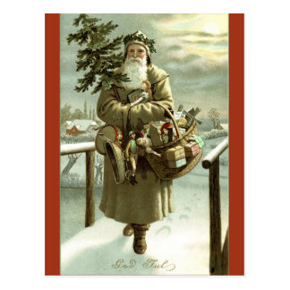 Vintage Image Swedish Santa Claus Postcard
