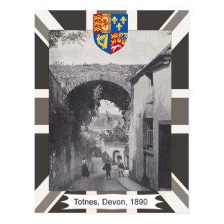 Vintage image, Totnes, Devon, 1890 Postcard