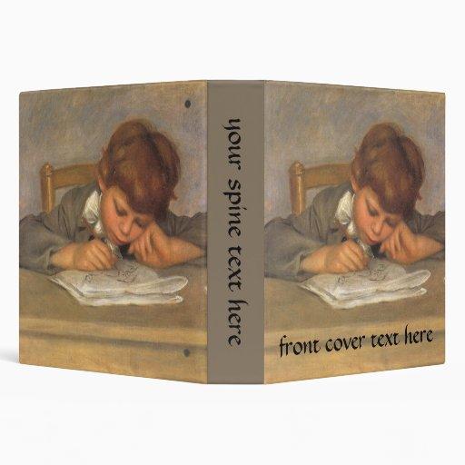 Vintage Impressionism Art, Jean Drawing by Renoir 3 Ring Binder