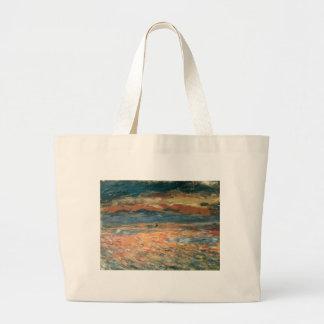 Vintage Impressionism Art, Sunset at Sea by Renoir Jumbo Tote Bag