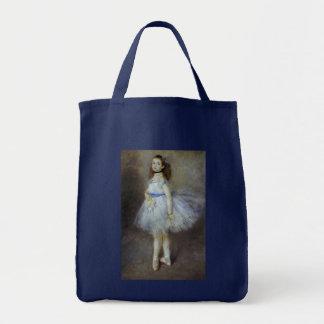 Vintage Impressionism, Ballet Dancer by Renoir Grocery Tote Bag