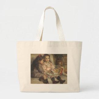 Vintage Impressionism, Children Portrait by Renoir Jumbo Tote Bag