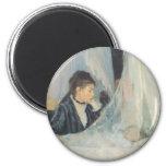 Vintage Impressionism, Cradle by Berthe Morisot 2 Inch Round Magnet
