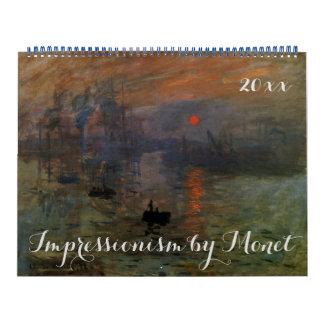 Vintage Impressionism Fine Art by Claude Monet Calendars