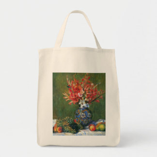 Vintage Impressionism, Flowers and Fruit by Renoir Grocery Tote Bag