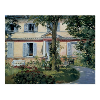 Vintage Impressionism, House at Rueil by Manet Postcard