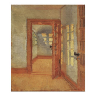 Vintage Impressionism, House Interior, Anna Ancher Poster