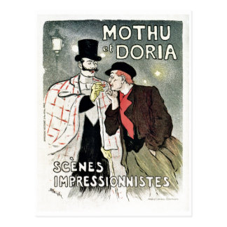 Vintage impressionism poster postcard