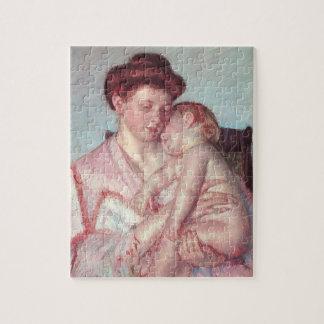 Vintage Impressionism, Sleepy Baby by Mary Cassatt Jigsaw Puzzle