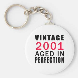 Vintage In 2001 Aged In Perfection Keychain