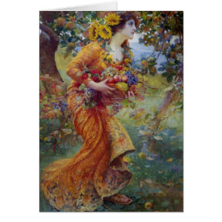 Vintage - In the Orchard, Card