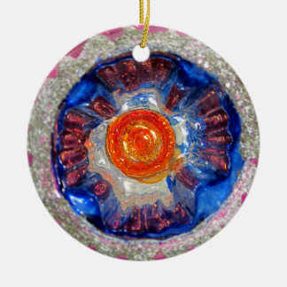 Vintage Indent Glass Christmas Ball - Cosmos Ceramic Ornament
