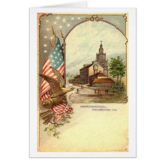 Vintage Independence Hall Card