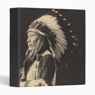 Vintage indian : Afraid of Eagle, Sioux - 3 Ring Binder