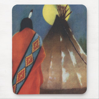 Vintage Indian and Teepee Mouse Pad