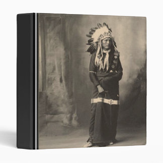 Vintage indian : Eagle Bear, Sioux - 3 Ring Binders