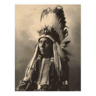 Vintage indian : Hubble Big Horse, Cheyenne - Postcard
