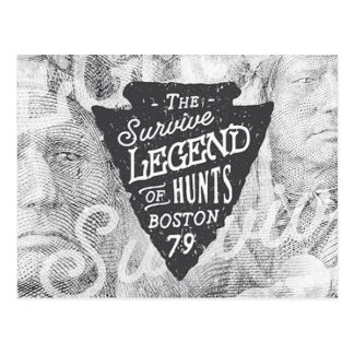 Vintage Indian Legends Survive Boston Postcard