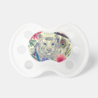 Vintage Indian Style Tiger Pattern Baby Pacifiers