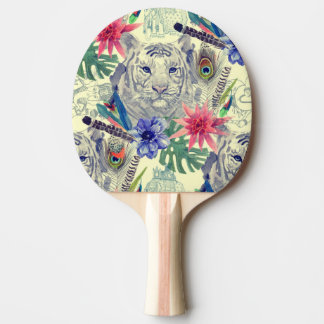 Vintage Indian Style Tiger Pattern Ping Pong Paddle