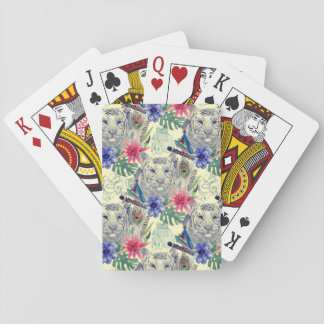 Vintage Indian Style Tiger Pattern Poker Deck