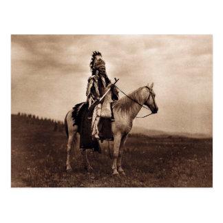 Vintage Indian War Chief Postcard