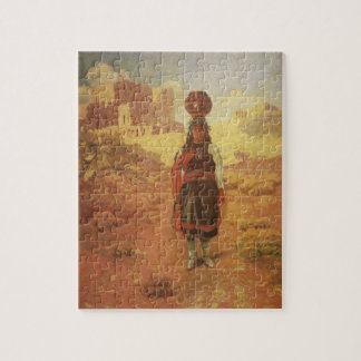 Vintage Indian Water Carrier by EW Rollins Jigsaw Puzzle