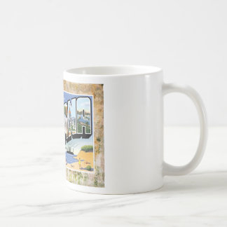 Vintage Indiana Greetings Antique Post Card Coffee Mug