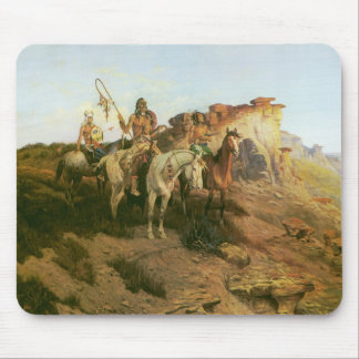 Vintage Indians, Prowlers of the Prairie, Seltzer, Mouse Pad