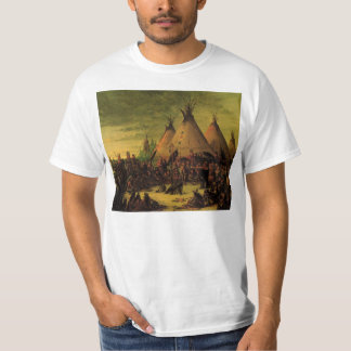 Vintage Indians, Sioux War Council by Catlin T-Shirt