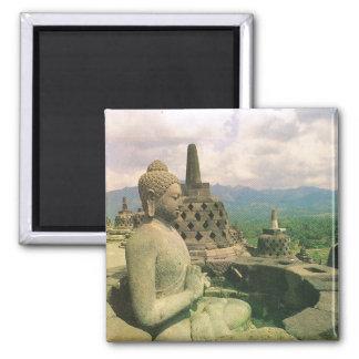 Vintage Indonesia, Borobodur Buddhist temple Magnet