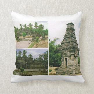 Vintage Indonesia,  Java, Penataran temples, Bitar Throw Pillow