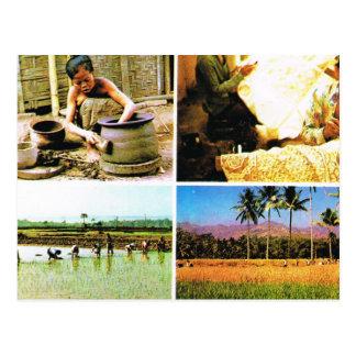 Vintage Indonesia, Javanese lifestyle Postcard
