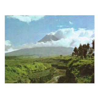 Vintage Indonesia, Merapi Volcano Postcard
