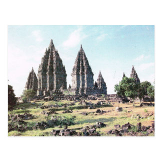 Vintage Indonesia, Prambanan, 9th century temple Postcard