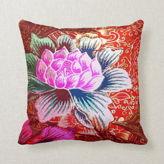 Vintage, Indonesian Batik Throw Pillow