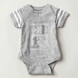 Vintage Industrial Mechanic's Graphic Baby Bodysuit