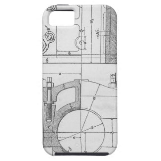 Vintage Industrial Mechanic's Graphic iPhone 5 Case