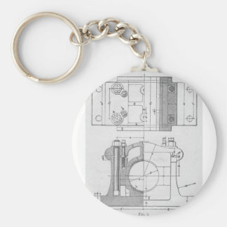Vintage Industrial Mechanic's Graphic Keychain