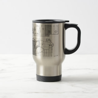 Vintage Industrial Mechanic's Graphic Travel Mug