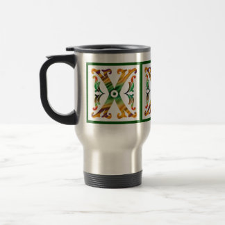 Vintage Initial X - Monogram X 15 Oz Stainless Steel Travel Mug