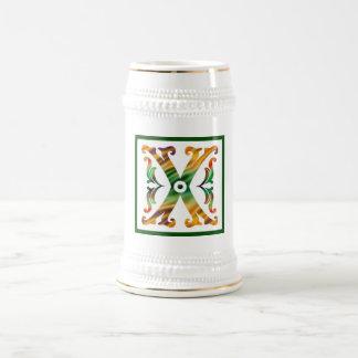 Vintage Initial X - Monogram X 18 Oz Beer Stein