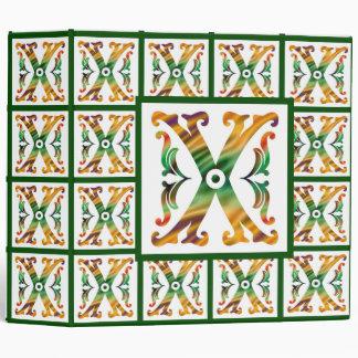 Vintage Initial X - Monogram X Binders